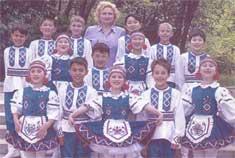 Танцевальная группа Дворца детства и юношества