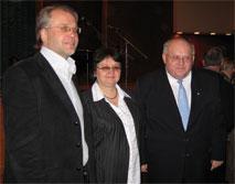 Организаторы вечера: Аудрюс Йозенас, Ирена Павлюкевич и Павел Чеплак.