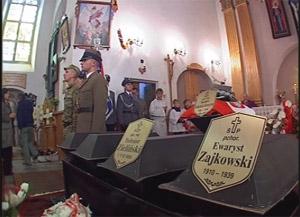 Перезахоронение в Кобринском районе Брестской области останков солдат и офицеров польской армии, которые погибли в сентябре 1939 года